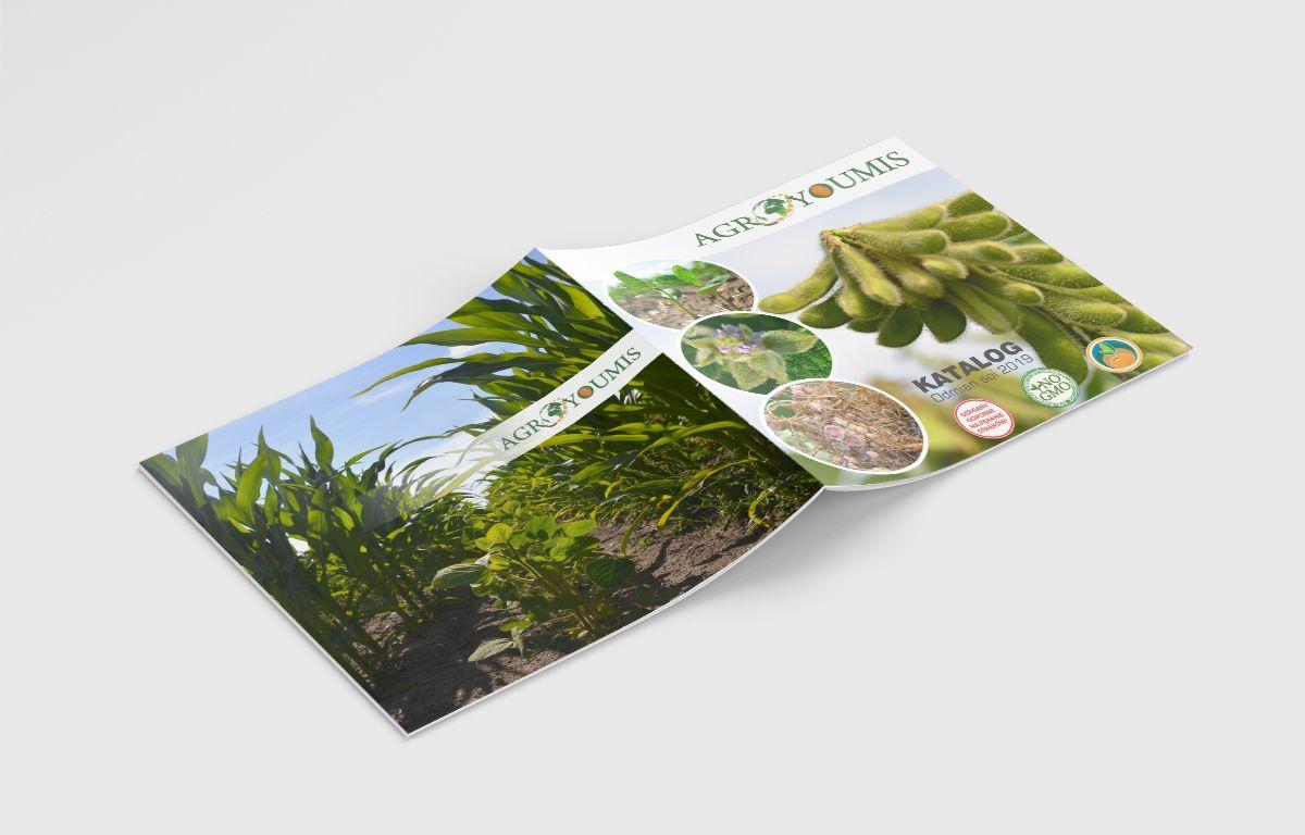 Agroyoumis | Rolnictwo - Graficzny projekt folderu katalogu - Viatas