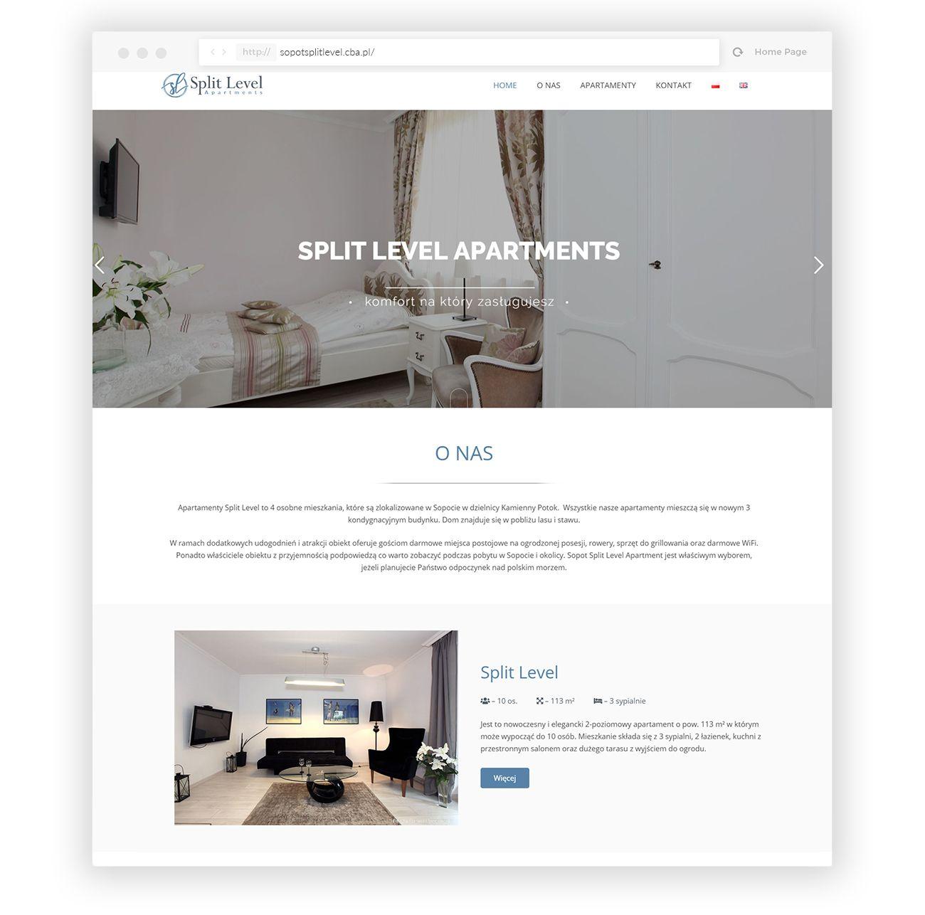Split Level Apartamenty na wynajem -Budowa strony internetowej - VIATAS