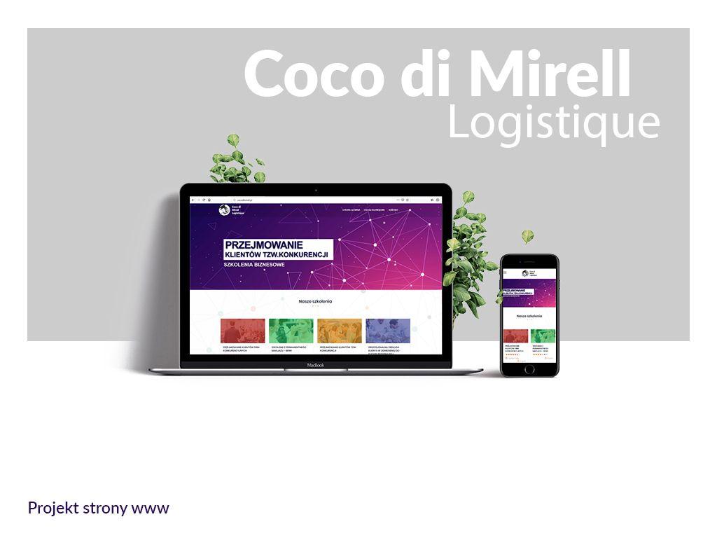 Coco di mirell Logistique - Strona internetowa | Materiały reklamowe - Viatas
