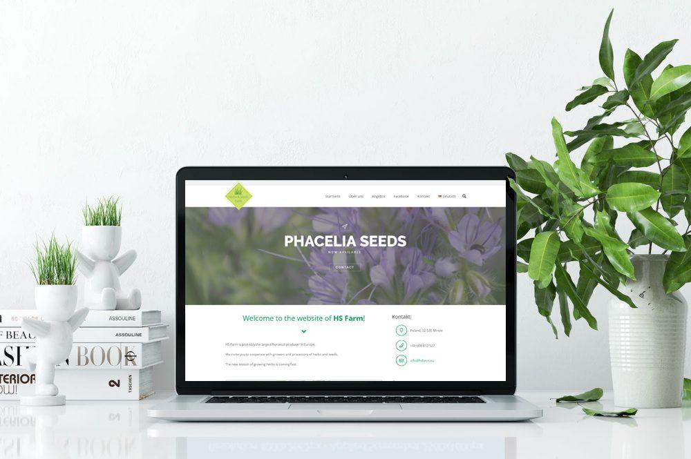 HS Farm Zioła - Projekt i budowa strony internetowej - Studio VIATAS