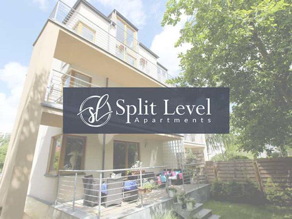 Split Level Apartments - Efektowne logo branży turystycznej - VIATAS Design Studio