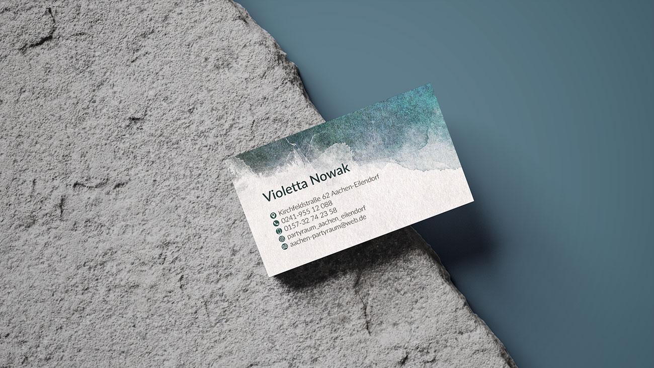 Violetta Nowak - Projekt wizytówki dla niemieckiej firmy - VIATAS Studio