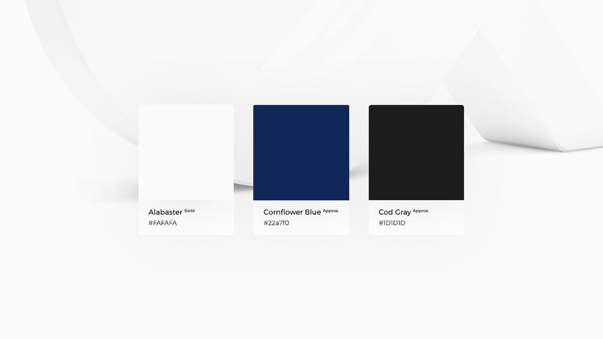 Projekt logotypu TaxMed - Białe | Granatowe | Czarne - Viatas Design Studio