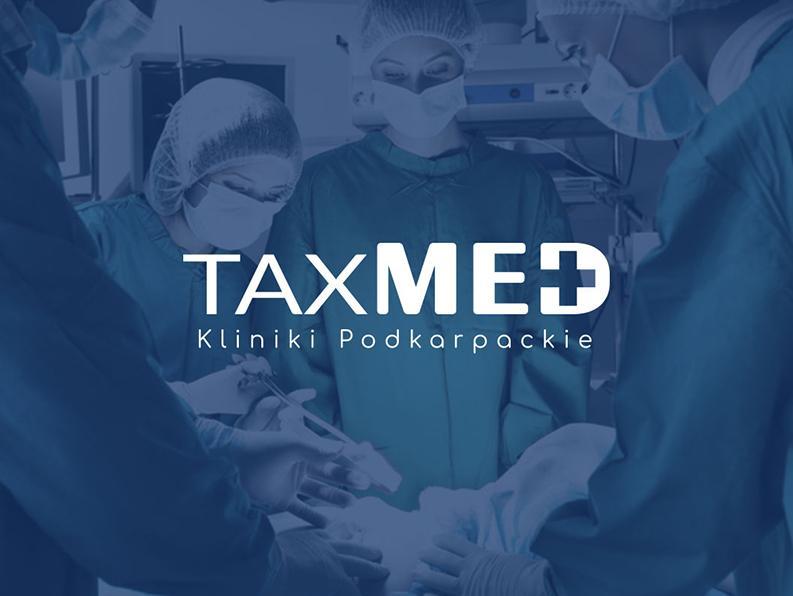 Projekt logo TaxMed - Portfolio - Viatas Design Studio