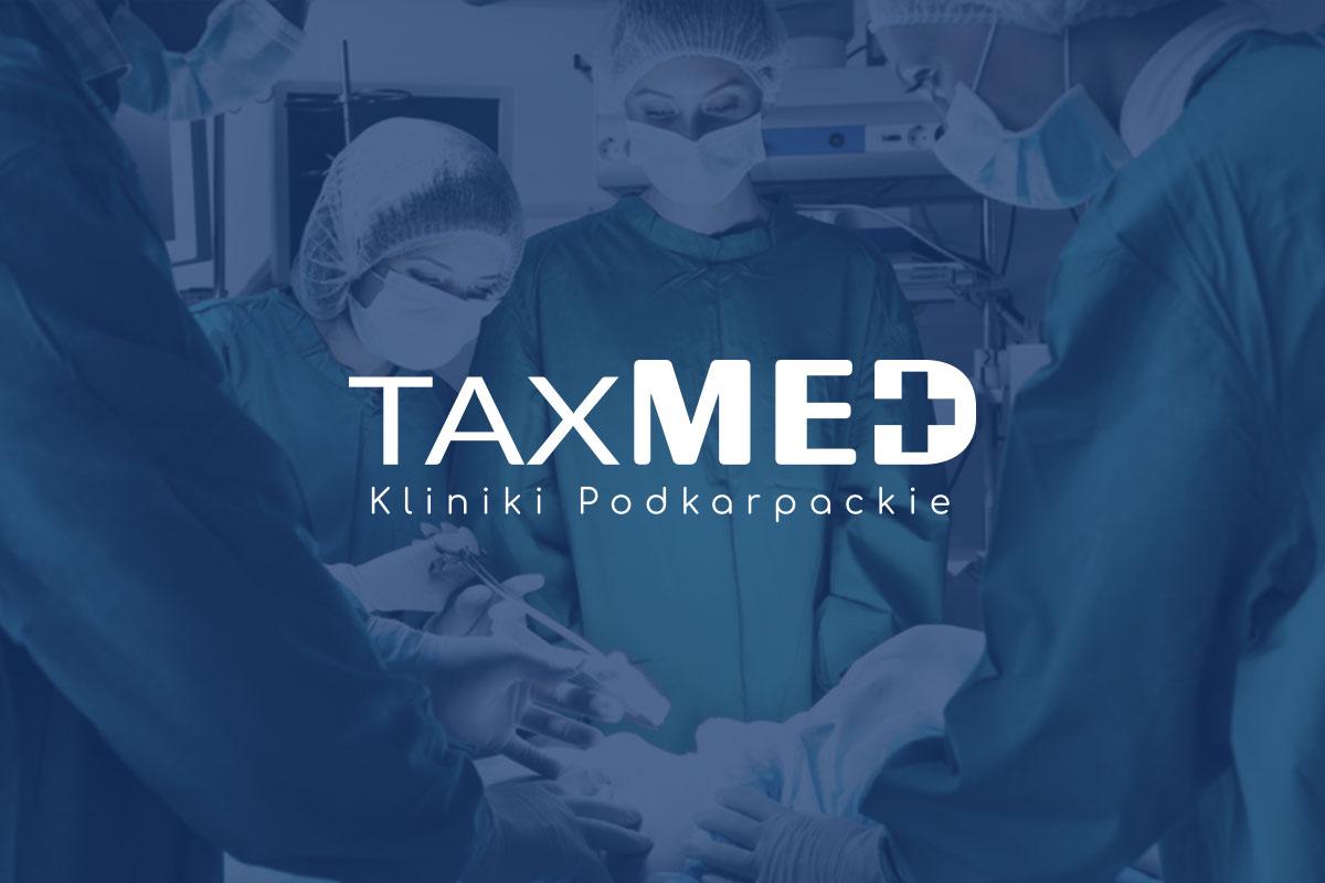 Projekt logotypu dla kliniki TaxMed - Portfolio - Viatas Design Studio