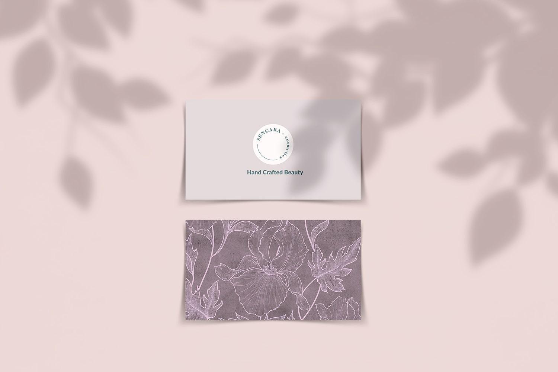 SENGARA - Projekt wizytówki dla firmy kosmetycznej - VIATAS Design Studio